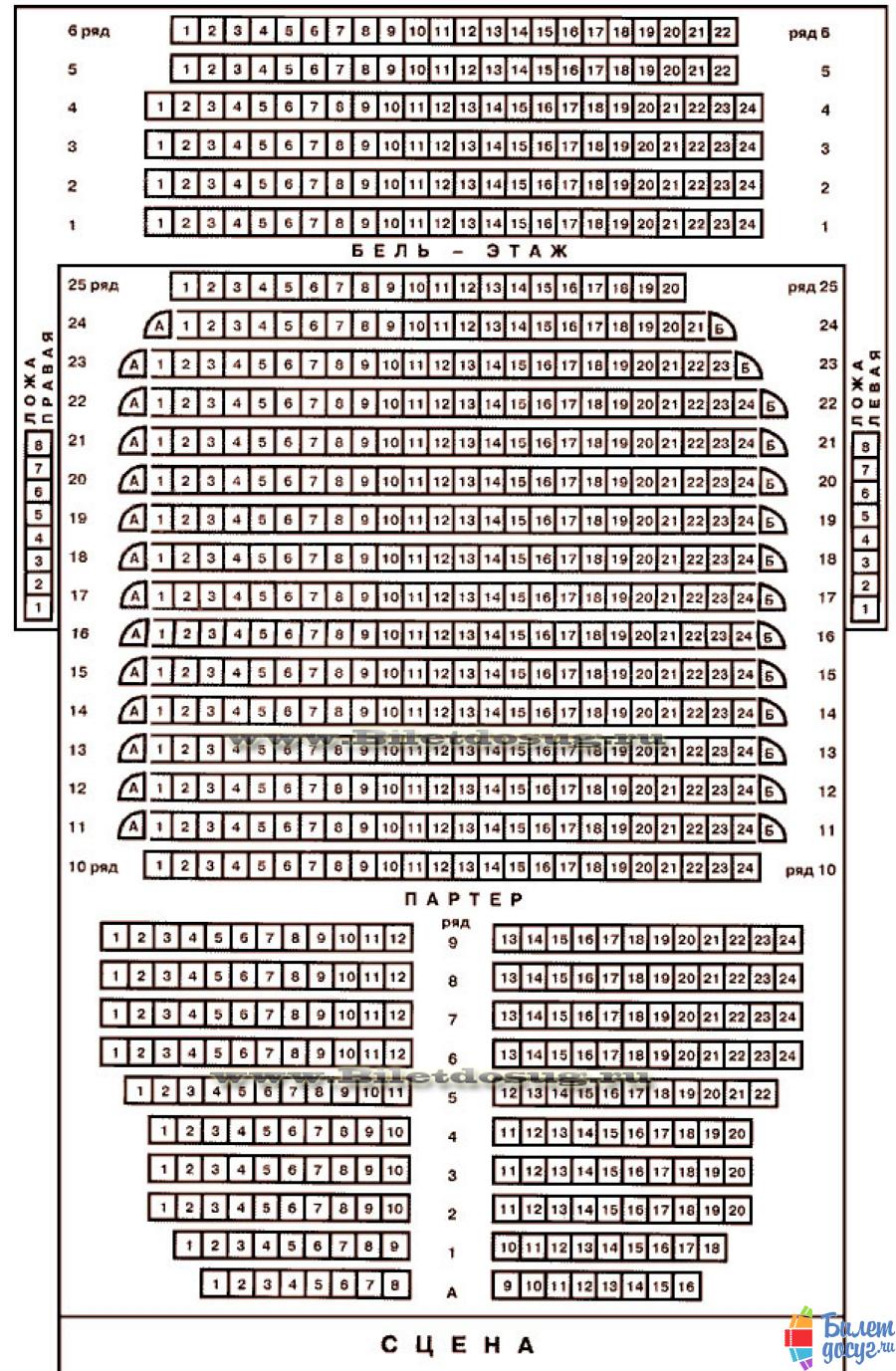 Схема театр Современник