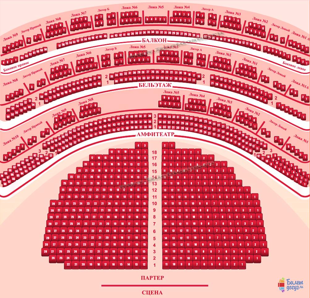 Схема театр Моссовета