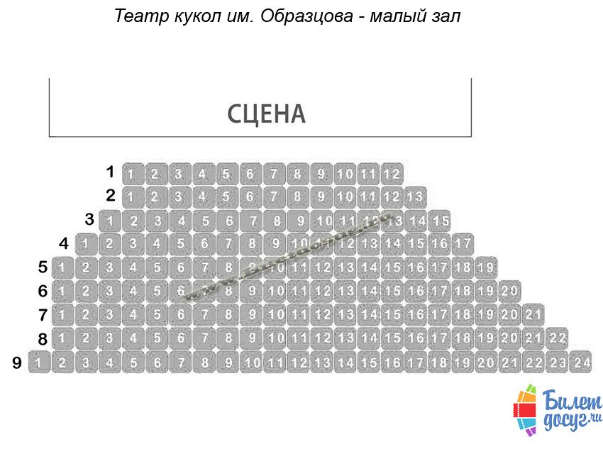 Схема театр кукол им. Образцова