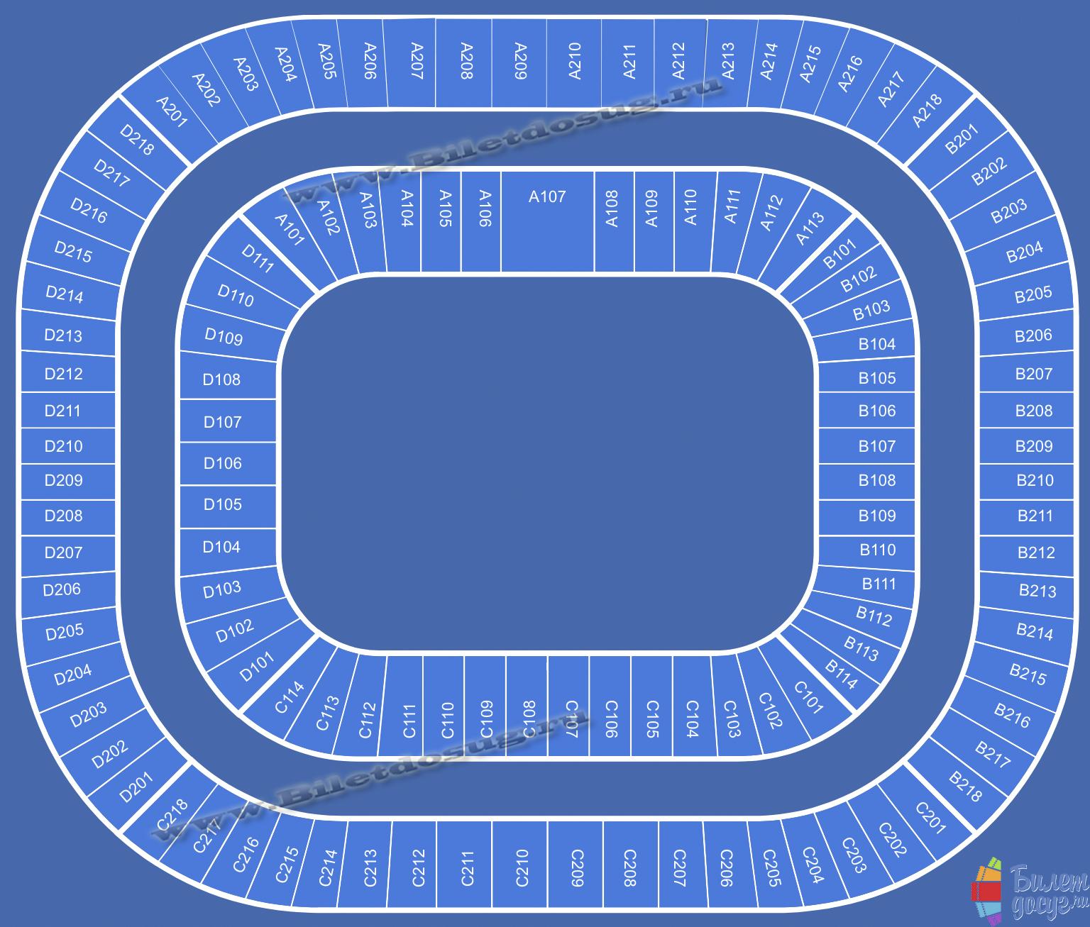 Схема Стадион Газпром Арена