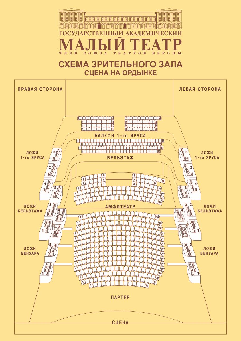 Схема Малый театр