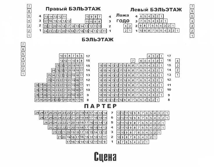 Схема Театр «Et Cetera» п/р А. Калягина